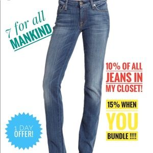 7 For all mankind Jimmie straight leg jeans
